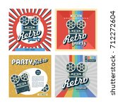 set of retro posters  flyers.... | Shutterstock .eps vector #712272604