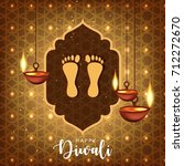 happy diwali wallpaper design... | Shutterstock .eps vector #712272670