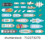 various ships and boats.  top... | Shutterstock .eps vector #712273270