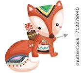 tribal fox | Shutterstock .eps vector #712278940