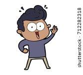 cartoon staring man | Shutterstock .eps vector #712282318