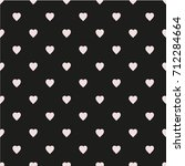 pattern with hearts. flat... | Shutterstock .eps vector #712284664