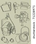 movie equipment | Shutterstock .eps vector #71228971