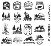 set of camping emblems isolated ... | Shutterstock .eps vector #712291270