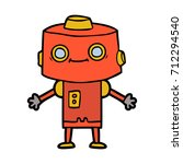 cartoon robot | Shutterstock .eps vector #712294540