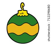 cartoon christmas bauble | Shutterstock .eps vector #712298680