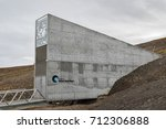 Small photo of Svalbard, August 2017: Entrance to the Global Seed Vault at Svalbard archipelago. The world's largest seed storage, opened by the Norwegian Government in 2008. Seed crates stored in permafrost.