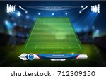 football or soccer playing... | Shutterstock .eps vector #712309150
