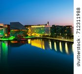 dublin  ireland. aerial view of ... | Shutterstock . vector #712311988