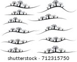vector trees design... | Shutterstock .eps vector #712315750
