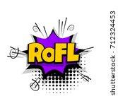 rofl  lol  funny lettering....   Shutterstock .eps vector #712324453