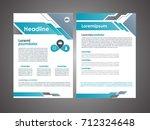 vector brochure flyer design... | Shutterstock .eps vector #712324648
