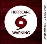 hurricane warning card or... | Shutterstock .eps vector #712326904