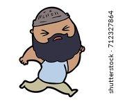 cartoon man with beard | Shutterstock .eps vector #712327864