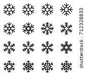decorative vector snowflakes | Shutterstock .eps vector #712328833