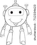 robot vector illustration art  | Shutterstock .eps vector #712334623
