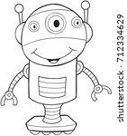 robot vector illustration art  | Shutterstock .eps vector #712334629