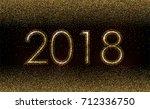 gold sparkle glittering... | Shutterstock .eps vector #712336750