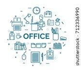 lettering of office concept... | Shutterstock .eps vector #712336990