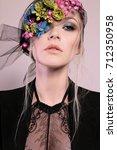 fashion studio portrait of...   Shutterstock . vector #712350958