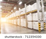 blurred warehouse or storehouse ... | Shutterstock . vector #712354330