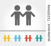 gay couple single icon vector... | Shutterstock .eps vector #712355446