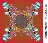 vector illustration. snowflake... | Shutterstock .eps vector #712356640