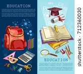 education banner. back to... | Shutterstock .eps vector #712360030