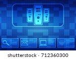 digital abstract technology...   Shutterstock . vector #712360300