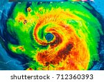 Small photo of Geocolor Image in the eye of Hurricane Irma. Elements of this image furnished by NASA.