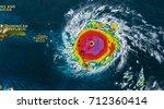 geocolor image in the eye of... | Shutterstock . vector #712360414