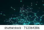 abstract connection dots.... | Shutterstock . vector #712364386