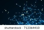 abstract connection dots.... | Shutterstock . vector #712364410