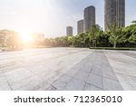 empty floor with modern... | Shutterstock . vector #712365010
