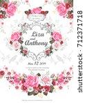 design of wedding invitation... | Shutterstock .eps vector #712371718