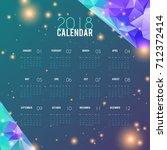 calendar 2018 abstract design.... | Shutterstock .eps vector #712372414