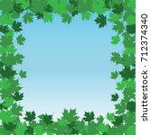 leaf border frame   summer is... | Shutterstock .eps vector #712374340