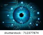 binary circuit future... | Shutterstock .eps vector #712377874