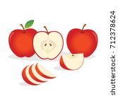 red apples. vector illustration. | Shutterstock .eps vector #712378624