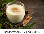 traditional christmas drink... | Shutterstock . vector #712382818