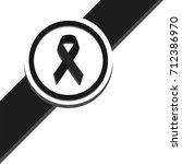 black ribbon top left corner | Shutterstock .eps vector #712386970