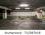 parking lot car park. | Shutterstock . vector #712387618
