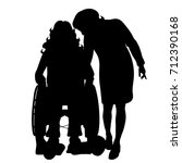 vector silhouette of couple on... | Shutterstock .eps vector #712390168