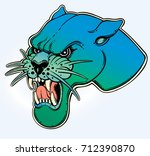 panther's portrait made in an... | Shutterstock .eps vector #712390870