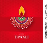 happy diwali wallpaper design... | Shutterstock .eps vector #712394326