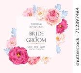 vintage wedding invitation | Shutterstock .eps vector #712397464