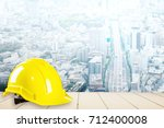 yellow construction safety... | Shutterstock . vector #712400008