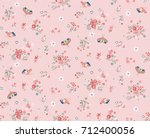 trendy seamless floral pattern... | Shutterstock .eps vector #712400056