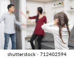 domestic violence and family... | Shutterstock . vector #712402594