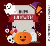 happy halloween concept pumpkin ... | Shutterstock .eps vector #712402834